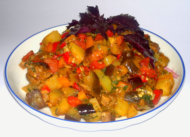 Рецепт рагу из овощей с кабачками рецепт 165